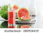 glass of fresh watermelon juice ...   Shutterstock . vector #280926419