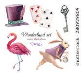 Watercolor Wonderland Set. Han...
