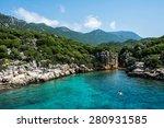 swimming in kas  turkey | Shutterstock . vector #280931585