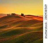 tuscany  rural landscape in... | Shutterstock . vector #280938569