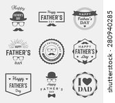 happy fathers day vintage... | Shutterstock .eps vector #280940285