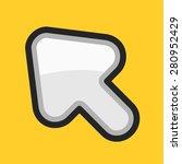 vector cursor icon. modern...