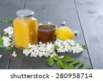 three different honey and white ... | Shutterstock . vector #280958714