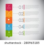 infographic templates for... | Shutterstock .eps vector #280965185