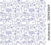 a vector seamless pattern of... | Shutterstock .eps vector #280965869