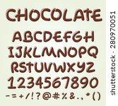 chocolate vector alphabet.... | Shutterstock .eps vector #280970051