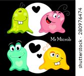 set of funny monsters  microbes ... | Shutterstock .eps vector #280976474