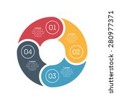 vector circle infographic... | Shutterstock .eps vector #280977371