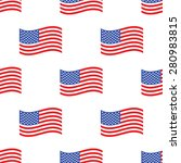 Image Of American Flag Repeate...