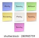 weekdays in german   Shutterstock . vector #280985759