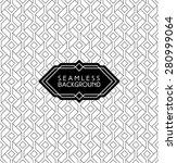 monochrome seamless arabic art...   Shutterstock .eps vector #280999064