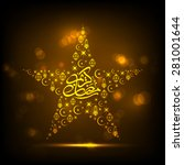illustration of ramadan kareem... | Shutterstock .eps vector #281001644