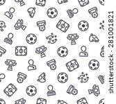 soccer icons seamless...   Shutterstock .eps vector #281001821