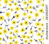vector seamless pattern.... | Shutterstock .eps vector #281002097