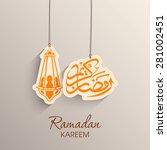 illustration of ramadan kareem... | Shutterstock .eps vector #281002451