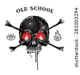 badge or logotype with skull.... | Shutterstock .eps vector #281003294