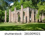 Ruins Of Old Sheldon Church...