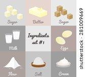 Ingredients Set  1. White Suga...