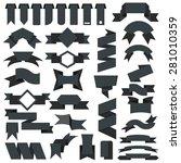 ribbon icons  vector set | Shutterstock .eps vector #281010359