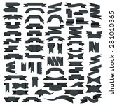 ribbon icons  vector set | Shutterstock .eps vector #281010365