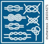 sailor knot set. nautical rope... | Shutterstock .eps vector #281014271