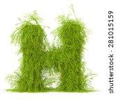 3d Decorative Nature Letter H
