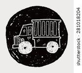 truck doodle | Shutterstock . vector #281018204