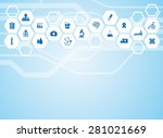 medical background and icons to ... | Shutterstock .eps vector #281021669