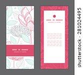 vector modern line art florals... | Shutterstock .eps vector #281024495