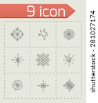 vector wind rose icon set on... | Shutterstock .eps vector #281027174