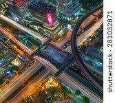 birds eye view of a modern... | Shutterstock . vector #281032871