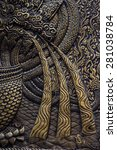 gold metal pattern backgrond ... | Shutterstock . vector #281038784