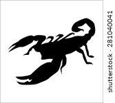 Vector Black Scorpion