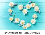 Heart From White Narcissus And...