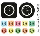 time icon. clock icon