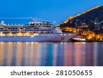 beautiful white giant luxury... | Shutterstock . vector #281050655