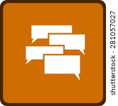 flat  icon of a communication | Shutterstock .eps vector #281057027