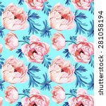 seamless floral pattern with... | Shutterstock . vector #281058194