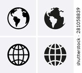 earth globe icons | Shutterstock .eps vector #281058839