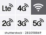 lte  2g  3g  4g and 5g... | Shutterstock .eps vector #281058869