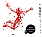 abstract basketball player in... | Shutterstock .eps vector #281078111