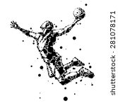 abstract basketball player in... | Shutterstock .eps vector #281078171