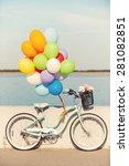 Summer Bike. Picture Of Vintag...