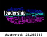 leadership word on cloud... | Shutterstock . vector #281085965
