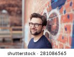 portrait of smiling young man... | Shutterstock . vector #281086565