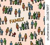 multigenerational family... | Shutterstock .eps vector #281087897