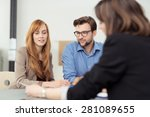 broker making a presentation to ... | Shutterstock . vector #281089655