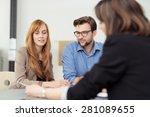 broker making a presentation to ... | Shutterstock . vector #281089655