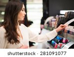 portrait of a woman shopping in ... | Shutterstock . vector #281091077
