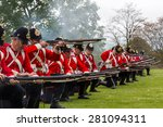 Small photo of Tyntesfield, UK. 24th May 2015. A re-enactment troupe demonstrate in the Somerset countryside